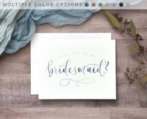 wedding photo - Watercolor Will You Be My Bridesmaid Cards. Printed Bridesmaid Proposal, Handwritten Bridal Party Cards -Bridesmaid Gift, Maid of Honor, Etc