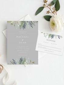 wedding photo - Wedding Invite and RSVP Card INSTANT DOWNLOAD, Set, Suite, Wedding Invitation, Diy Printable Invitation, Templett, Editable pdf, Vintage
