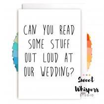 wedding photo - Funny Master Of Ceremonies Card - Will You Be My Our Master Of Ceremonies, funny wedding card, master of ceremonies card, wedding MC card