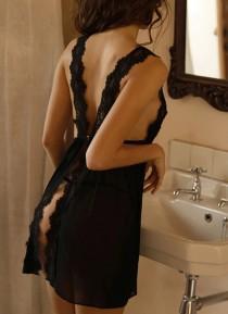wedding photo - Lacework & Transparent Designed Sexy Lingerie Set