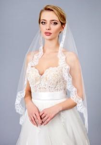 wedding photo - Full lace veil, Wedding lace veil, veil Bridal lace Veil, white, ivory, Wedding veil bridal Veil Fingertip chapel long veil