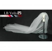wedding photo - White Veil, Wedding Veil, Plain Veil, 1 Single Tier,  Elbow Length, Short, Long, Veil, Fingertip, Chapel, Cathedral, LB Veils LBV162 UK