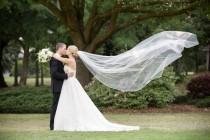 wedding photo - Cathedral length Wedding Bridal Veil 108 inches white, ivory, Wedding veil Long bridal Veil cathedral length veil bridal veil cut edge veil