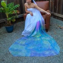 wedding photo - Monet's Garden Colorful Bridal Veil
