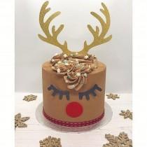 wedding photo - Reindeer Cake Topper Kit