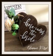 wedding photo - Rustic Flower Girl Basket, Heart, Sola Flower, Eucalyptus, Personalized, Country Flower Girl Basket, Fall flower Girl Basket, Burlap, Wood