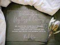 wedding photo - Unplugged Ceremony Sign - Wedding Sign – Acrylic Wedding Sign - Acrylic Welcome Sign