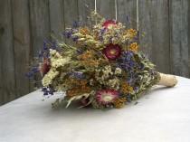 wedding photo - Rustic wedding bouquet, bridal bouquet, bridesmaid bouquet,dry flower bouquet,dried flowers,dried flower wedding bouquet,wild flower bouquet