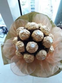 wedding photo - Bouquet of sweets. Ferrero Rocher  Bouquet. Sweet Gift. Sweet Chocolate Bouquet.#MakeItMeaningful
