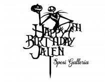 wedding photo - Happy Birthday ADD NAME & AGE - Jack Skellington A Nightmare Before Christmas Cake Topper