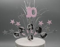 wedding photo - Ariana Grande Cake Topper Spray Cake Decoration Birthday 7th 8th 9th 10th 11th 12th 13th 14th 15th 16th any age Feathers Stars on Wires 005
