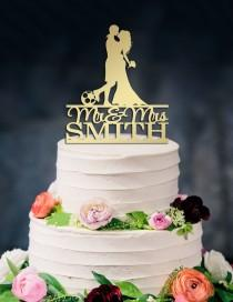 wedding photo - Soccer Wedding Cake Topper,Football Cake Topper,Custom Cake Topper,Mr & Mrs Cake Topper,Soccer Player Wedding,Football players Silhouette