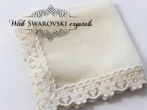 wedding photo - Silk handkerchief, Bride Hankie, Wedding Hanky for Daughter, Bride Gift from Mom, Bridal Accessories