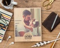 wedding photo - Custom Fathers Day Portrait 1st Father Day Gift for Fiance Daddy Gifts Father Gift Dad Gifts for Dad First Christmas Gifts for Husband Gift