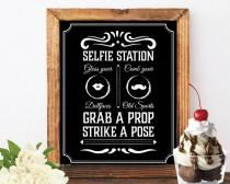 wedding photo - Photo booth selfie station sign grab a prop and strike a pose sign art deco photo booth jack daniels photo booth sign chalkboard signs booth