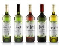 "wedding photo - Printable Wine Label Template Wine Bottle Labels Bridal Wine Labels PDF Instant Download Custom ""First"" Marriage Milestones Wine Greenery"