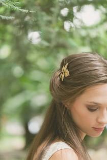 wedding photo - Gold Leaf Hair Pin Leaf Bobby Pin Leaf Hair Clip Bridal Hair Bobby Pin Bridal Hair Clip Rustic Woodland Wedding Gold Bridal Hair Accessories