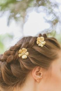 wedding photo - Wedding Hair Pins Gold Wedding Bobby Pins Wedding Hair Clips Crystal Bobby Hair Pins Crystal Hair Clips Bridal Hair Accessories Autumn Bride