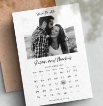 wedding photo - Magnetic Save the Date Cards, Simple Magnetic Save the Date Card, Picture Wedding Magnetic Postcards with Envelopes, Custom