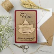 wedding photo - Calendar Save the Date Magnet, Leaf Save the Date, Wood Save the Dates, Wedding Invitation, Wedding Favors, Rustic Fall Wedding Magnet