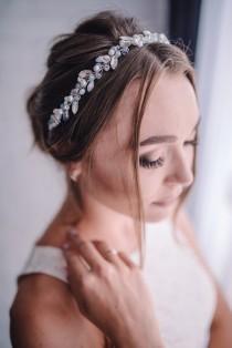 wedding photo - Blue opal hair vine-Bridal hair accessories-Bridal hair vine-Wedding hair accessories- Bridal headpiece-Wedding hair vine-something blue