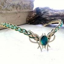 wedding photo - Emerald Green Oracle Gem Elven Circlet Tiara Headdress