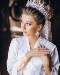 wedding photo - Wedding crown Bridal crown Crystal crown Queen crown Bride crown Wedding crown for bride Tiara wedding crowns Rhinestones tiara Royal tiara