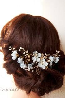 wedding photo - Hair Comb Wedding Bridal Hair Comb Wedding Accessories Bridal Comb wedding Comb Bridal Head Pieces