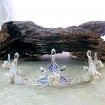 wedding photo - Crystal Princess Tiara Silver or Gold Wire Fairytale Wedding Costume Crown