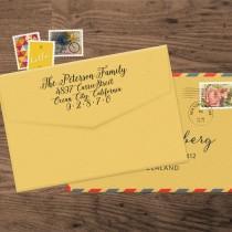 wedding photo - CUSTOM SELF INKING Address Stamp, Custom Address Stamp, Return Address Stamp, Custom Stamp, Logo Stamp, Wedding Stamp, Housewarming Gift 142