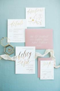 wedding photo - Chelsey Wedding Invitation Suite with Foil