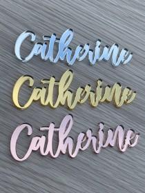wedding photo - Name Place Cards , Name Plaques , Personalised Guest Names , Wooden Place Cards , Laser Cut Names , Wedding Events , Acrylic , Wedding ,Cake
