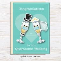 wedding photo - Cute Covid Wedding Card