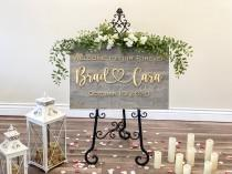 wedding photo - Wedding Sign, Wedding Welcome Sign, Welcome Wedding Sign Wood, Wedding Signage, Wooden Wedding Sign, Heart Name Sign, 3D Wedding Sign