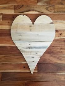 "wedding photo - 20"" wood heart large wooden heart large wood heart  pallet wood heart pallet wall art wedding guest book gift for him gift for her BFF gift"