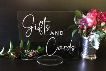 wedding photo - Gifts & Cards Table Wedding Acrylic Sign
