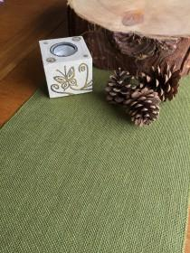 wedding photo - Light Olive Green Hessian Burlap Table Runner