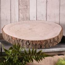 wedding photo - Rustic Wood Slice Wood Log Slab Cake Stand 3 Sizes Rustic Wedding Decor Centrepiece Vintage