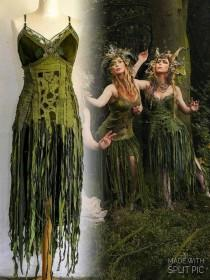 wedding photo - Woodland wedding dress in green bride to be Raw Rags