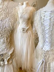 wedding photo - Boho wedding dress vintage lace,bohemian bridal gown tattered ,upcycled Raw Rags, Gypsy wedding dress