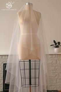 wedding photo - HAYLA veil, drop veil, blusher veil, cathedral veil, long veil, chapel veil, wedding veil, bridal veil, custom veil, Made in Australia