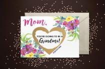 wedding photo - Pregnancy Announcement Scratch Off Mom, you're going to be a Grandma! Card - Pregnancy Announcement Reveal We're Pregnant, Grandma Card