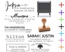 wedding photo - Address Stamp Self Inking Custom Return Address Stamp Address Mail  Custom Address Stamper - Wedding Invitation