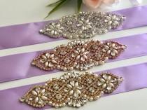 wedding photo - Lilac Bridal Belt, Violet Wedding Belt