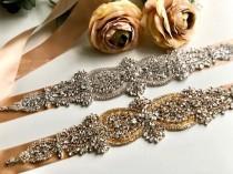 wedding photo - Champagne Wedding Belt, Bridesmaids Belt