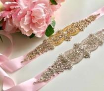wedding photo - Pink Bridal Sash, Pink Bridal Belt