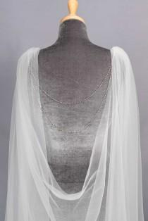 wedding photo - Draped cape veil - Delilah
