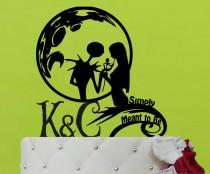 wedding photo - Wedding Cake Topper  -  jack and sally cake topper  -  The Nightmare Before Christmas  Jack Skellington
