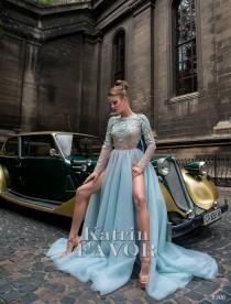 wedding photo - Blue Wedding Dress Alternative Wedding Dress Prom Dress Long Evening Gown Blue Maxi Dress Formal Dress Tulle Dress Embroidered Long Sleeve