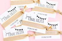 wedding photo - Personalized Final Fiesta Hair Ties - Let's Fiesta Hair Tie - Fiesta Hair Ties - Fiesta Bachelorette Party Favors - Bachelorette Party Favor